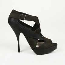 Miu Miu Suede Leather Cage Sandals SZ 37 - $105.00