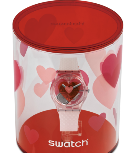 Swatch 2019 Valentine Triple Heart Limited New with Case
