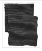 Calvin Klein Ribbed Knit Muffler Scarf Black OS $60 - £15.49 GBP