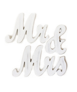 Wooden Mr and Mrs Wedding Sign - $24.00