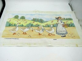 Vintage Golden Bee Stitchery Inc 20248 Goose Girl Picture - $17.32