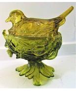 Westmoreland Green Glass Robin on a Nest  - $40.00