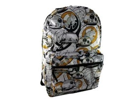 Disney Star Wars Force Awakens BB-8 Backpack Laptop Gym School Sports Tr... - $28.80