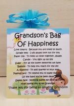 Grandson's Bag of Happiness  - Unique Sentimental Novelty Keepsake Gift & Card - $7.78