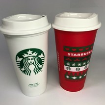 Starbucks Christmas 2020 Red Hot Cold Plastic Cup Tumbler + Free Extra T... - $16.83