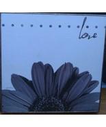 "Target Wall Art - 12"" x 12"" x 1.3"" - Vintage Flower Love BRAND NEW  Joan... - $21.77"