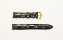 15mm Genuine Lizard Teju Compatible with Cartier Tank Watch Band Made in... - $99.95