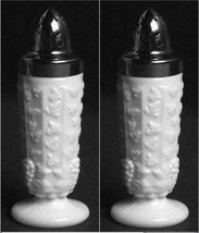 Westmoreland Paneled Grape White Milk Glass Salt & Pepper Shaker - $11.88