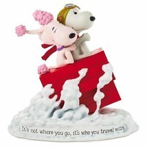 Hallmark Peanuts Snoopy Flying Ace and Fifi It's Not Where You Go Figuri... - $44.05