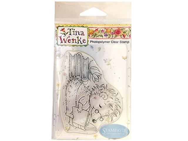 Tina Wenke Hedgehog Reading Clear Stamp #WDS660