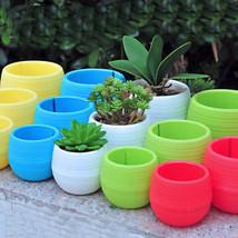 Mini Plastic Flower Pot Succulent Plant Flowerpot For Home Office Deco FGH - $1.99