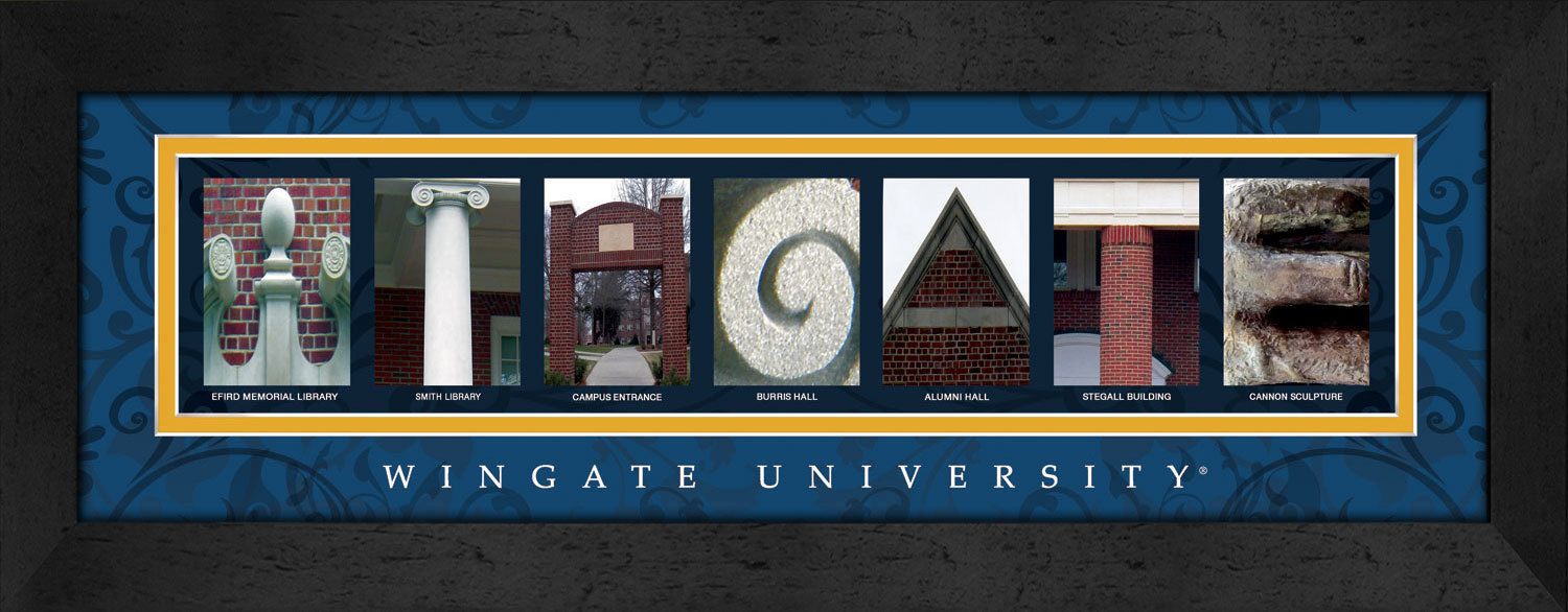 Primary image for Wingate University Officially Licensed Framed Campus Letter Art