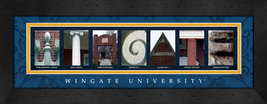 Wingate University Officially Licensed Framed Campus Letter Art - $39.95
