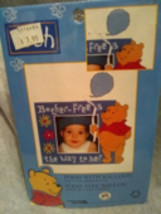 Leisure Arts Counted Cross Stitch Kit Pooh w/ Balloon 14Count Perforated Plastic - $3.00