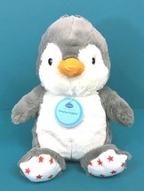 Cloud B Dreamy Hugginz Holiday Penguin Gray White Red Stars Plush Stuffe... - $15.95