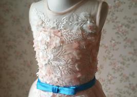 Blush Sleeveless Lace Tulle Flower Girl Dress Toddler Blush Princess Dress NWT image 5