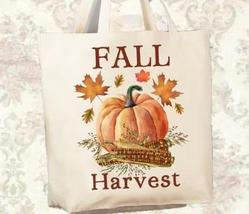 Fall Harvest Autumn Themed Shopping Tote, Canvas Bag, Made in USA, 12 oz.  - $25.00