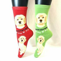 2 PAIRS Foozys Women's Socks LABRADOODLE, Canine Collection, Dog Print, NEW - $8.99