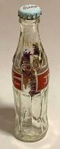 Japan Coke Coca-Cola Mini Miniature dried Purple Flowers crystal glass bottle image 6