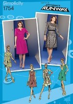 Simplicity 1754 Misses Dress With Bodice & Sleeve Variations (Size 4, 6, 8, 10, - $4.94