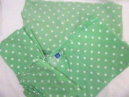 Pottery Barn Teen Mini Dot Polka-Dot Green Organic Cotton 4-PC Twin XL Sheet Set - $41.00