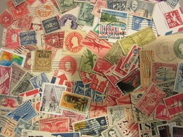 Vintage USA postage stamp lot ****ALL DIFFERENT 'BACK OF BOOK**** FREE S... - $5.93