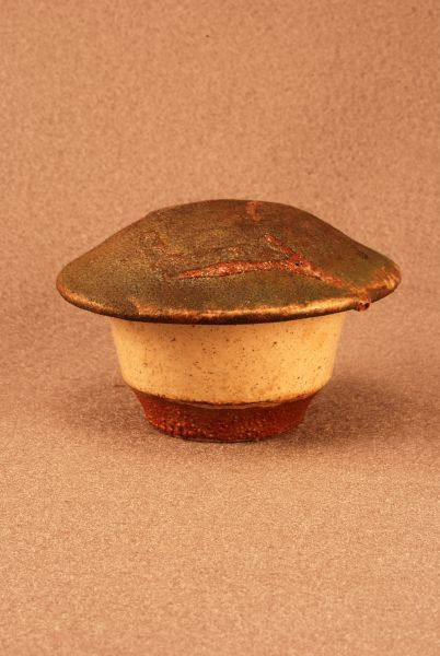 RAKU Unique Ceramic Companion Small/ Keepsake Funeral Cremation Urn #I0012