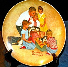 """1979 """"New Arrivals"""" by Norman Rockwell Plate with Box ( Knowles ) AA20-CP2196 Vi"""