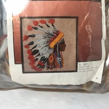 "Indian Head Needlepoint Kit Art Craft 18"" x 18"" - $29.02"