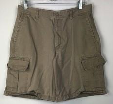 Gap Standard Cargo Short 33 Kaki Fauve Coton - $12.86