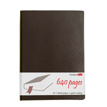 A5 Extra Thick Brown Leather Journal, Blank Paper Notebook Sketchbook, 6... - $34.94