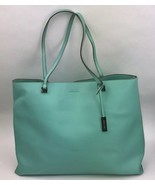 Ivanka Trump Aqua Blue Tote Bag Large Carry All Purse Man Made - $98.99