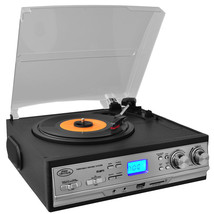 Pyle Classic Retro Style Turntable with AM/FM Radio, Cassette Player & A... - $133.68