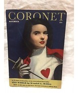 Coronet Magazine--November 1943--Bettina Bolegarg cover--Wendell Willkie - $9.90