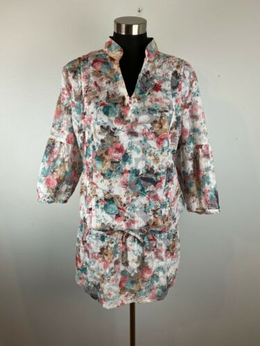 Primary image for Fridays Project Italy Collection Womens Dress L Large Multicolor Floral