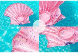"""Seashell Inflatable Pool Rafts Ride Ons Floats Swim Tube for Adults 55.1"""" (Pink) image 2"""