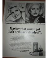 Tegrin Medicated Shampoo Print Magazine Ad 1969 - $3.99