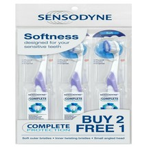 SENSODYNE Toothbrush Complete Protection for Sensitive Teeth - Soft x 3 Units - $26.56
