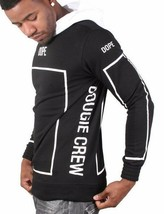 Dope Couture Black White Bougie Crew Track Pullover Hoody Hooded Sweater NWT image 2