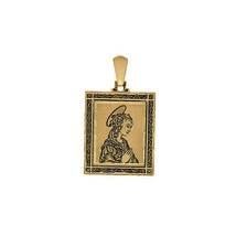18K Yellow Gold Our Lady Of Lourdes Charm - $375.21
