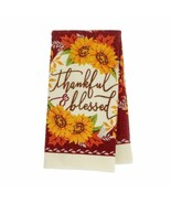 "Sunflowers Set of 2 Kitchen Towels ""thankful & blessed""  NWT 14""X 24""  - $7.00"