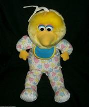 "16 ""vintage 1998 applause big bird baby musical pull stuffed animal - $41.71"