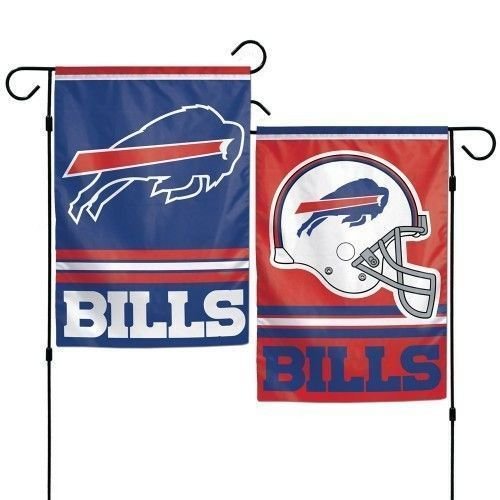 "BUFFALO BILLS TEAM GARDEN WALL FLAG BANNER 12"" X 18"" 2 SIDED NFL FOOTBALL"
