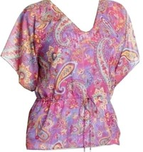 Chaps by Ralph Lauren Paisley Georgette Blouse Tunic Camisole Set XS 2 Small 4-6 - $39.99