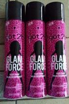 Schwarzkopf Got2b Glam Force High Hold Hairspray 9.1 oz (3 pack) - $30.89