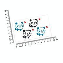 Set of 5 Cute Panda Heart Tattoo Stickers Removable Waterproof Temporary Tattoos