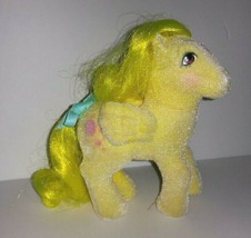 Vintage G1 So Soft My Little Pony Lofty Beautiful Flocking with Ribbon - $15.00