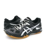 Asics Womens 6 Gel-Tactic Black Lace Up Sports Sneaker Volleyball Shoes ... - $38.99