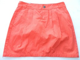 NWT Gap Skirt Twill Mini Bright Red Killer Tomato Orange Skirt Size 8 - $13.09