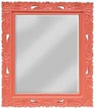 Wall Mirror TRADE WINDS Traditional Antique Fretwork Coral - $529.00
